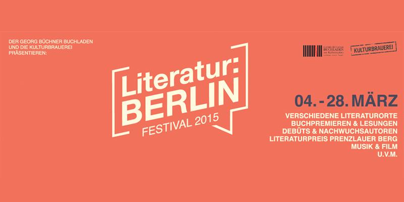 Festival Literatur Berlin 2015